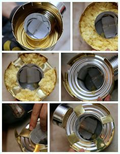 Tutorial for Tin Can Rocket Stove from prepared-housewives.com and lots more