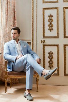 huntsman blue suit - Google Search