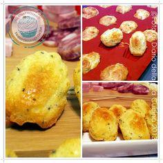 Mini Madeleine al parmigiano e semi di papavero  #Madeleine #cheese #food #fingerfood #recipes #stepbystep