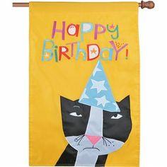 Happy Birthday House Flag, FREE shipping!
