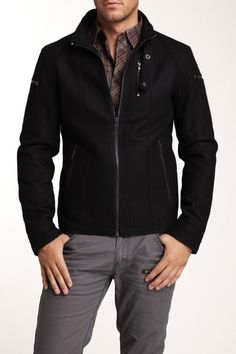 MG Black Label Occipital Coat in Onyx black