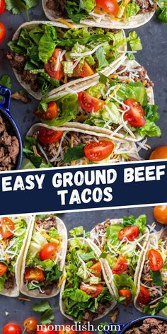 Easy Ground Beef Tacos only take 20 short minutes to whip up. This quick and satisfying recipe is sure to please even the pickiest of eaters.