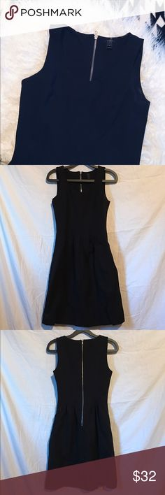 Little black fit and flare dress This dress is gorgeous and comfortable! It's hard to tell in the photos but the waist line is ruched to create a gorgeous flare at the hips. The fabric is thick and you can just tell its made with care. Looks gorgeous for all occasions 😊 worn once! J. Crew Dresses Mini
