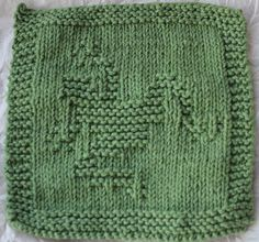 KNITTED - DISHCLOTH FROG PATTERN