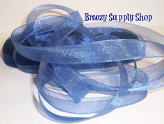 10 yards of  3/8 inch Sheer Royal Blue Ribbon by BreezySupplyShop, $3.00 #rt #boebot #Abees #swag