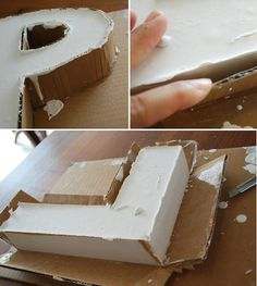 Plaster letters project tutorial.I so want to do this.I love letters for decoration!