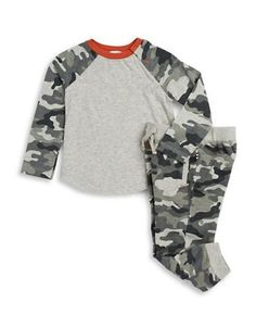 Splendid Camouflage Tee and Pants Set  Grey 12-18 Months