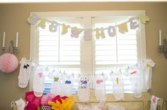Cute Baby Shower Ideas! Decorate A Onsie  At The Shower!