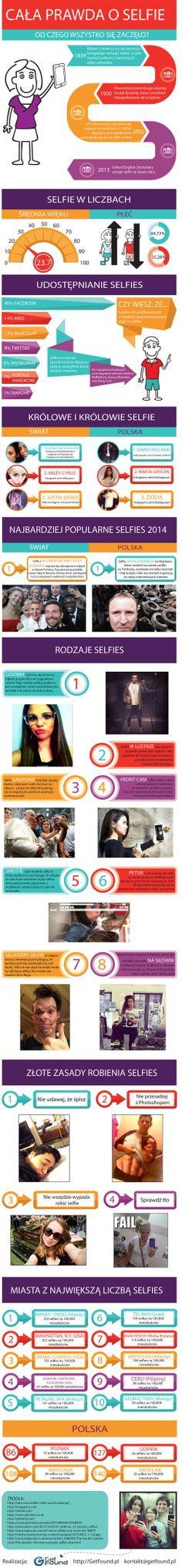 Selfie, słit focia czy zdjęcia z rąsi to już nasza rzeczywistość. Poznaj całą prawdę o Selfie! Znajdziesz tu informacje o tym: - Jak rozpoczął się fenomen Selfie, - Selfie w liczbach, czyli osoby w jakim wieku i jakiej płci są najbardziej aktywne w Selfie, - Królowe i królowie Selfie, zarówno w Polsce jak i na świecie, - Najbardziej popularne Selfies 2014, - Rodzaje najpopularniejszych Selfies, - Złote zasady robienia Selfies, - Miasta z największą liczbą Selfies w Polsce i na świecie.