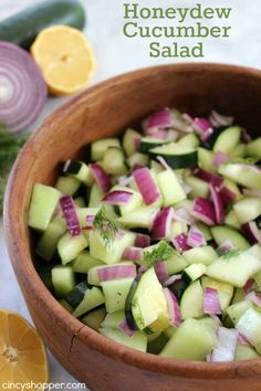 Honeydew Cucumber Salad- Simple salad that is light and refreshing for your bbqs this summer,