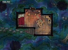 Swamp Cabin Dungeons and dragons Fantasy map Pathfinder maps
