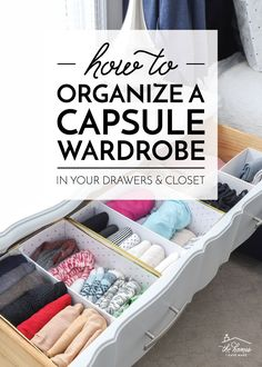 Come take a look at my minimal Capsule Wardrobe in my closet & drawers! I love how compact my wardrobe is, and getting dressed is a breeze!