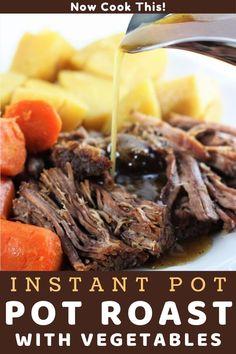 Entree Recipes, Beef Recipes, Dinner Recipes, Instant Pot Pot Roast, Best Pot Roast, Carrots And Potatoes, Instant Pot Pressure Cooker, Serving Dishes, Vegetable Recipes
