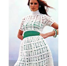 Vintage Vogue Crochet Pattern Lacy Midriff Top