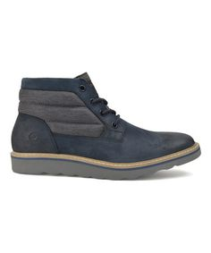 Another great find on #zulily! Navy Hunter Mid-Rise Leather Boot #zulilyfinds
