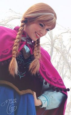 smiled disney frozen princess Anne cosplay - 2014 Halloween coutume, cape #2014 #Halloween