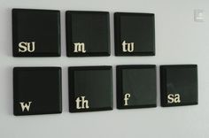 Chalkboard Weekly Calendar Fridge Magnet Set |Gadgetsin