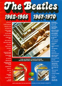 Red or Blue? Beatles Album Covers, Beatles Albums, The Beatles Yesterday, Yesterday And Today, 1950s Rock And Roll, Beatles Poster, Apple Records, Can't Buy Me Love, All My Loving