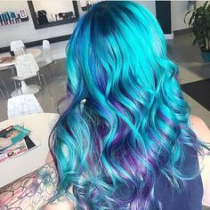 Top 16 hair colour trends for this summer 2017 - purple blue turquoise hair