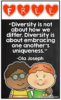 """""""Teacher candidates must critically examine their racial assumptions about school and society so that they may develop a clearer understanding of racism. They can explore rac- ism through the illustrations and language contained in children's literature. Classroom Projects, Classroom Posters, Classroom Fun, Diversity In The Classroom, Multicultural Classroom, Diversity Activities, Cultural Diversity Quotes, Harmony Day, Quote Posters"""