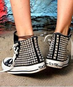 Studded Converse! DIY I'm gonna try this!
