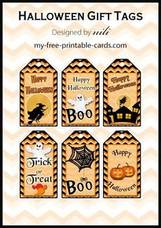 Free printable Halloween gift tags - my-free-printable-cards.com Printable  sc 1 st  Pinterest & 11 Best Printable Halloween Gift Tags images | Holidays halloween ...
