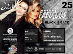 Sabato 25 ottobre | Black is back!