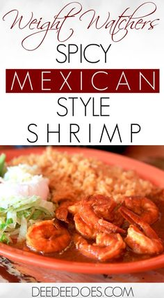 If you love shrimp and Mexican style food, you will love this quick cook recipe for Skinny Spicy Mexican Style Shrimp, just 1 Point per serving on Weight Watchers Freestyle. Healthy Cooking, Healthy Dinner Recipes, Low Carb Recipes, Cooking Recipes, Fish Recipes, Breakfast Recipes, Ramen Recipes, Chickpea Recipes, Lentil Recipes