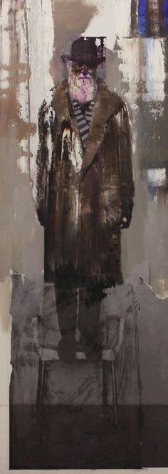 Adrian Ghenie - Selfportrait as Charles Darwin 2