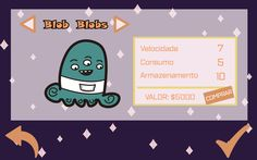Alien Shop - Escolha do Personagem