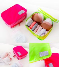 The *Foldable Underwear Mesh Pouch* is a cute and well-made pouch! The main compartment in this pouch allows you to store approximately 8 undies and 3-5 bras all at once! A secret inner pocket is designed below the cover to place more undies! This pouch has a zipper attached to keep all your essentials safe and secure. A strap is also attached on the top of pouch for convenient use. Carry socks, T-shirts, towels and more with the Foldable Underwear Mesh Pouch! Please check out the photos to…