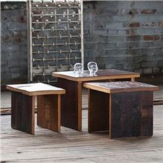 Jackson Nesting Tables (491562197), Eco Friendly Furniture | Reclaimed Wood Furniture | Natural Home Furniture