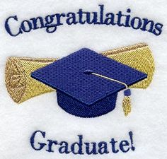 Congratulations Graduate Embroidered Flour by EmbroideryEverywhere, $13.99