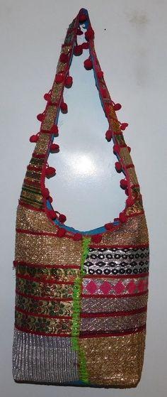 c058ef475a LADIES HOBO CROSS BODY BAGS TOTE BAG HANDBAGS INDIAN PATCHWORK JHOLA BAG  LB29  Handmade  ShoulderBags
