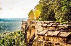 Festung Königstein im Elbsandsteingebirge.