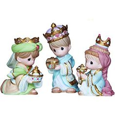 Precious Moments We Three Kings - 3 Piece Mini Nativity Set - Available at Ann's Gift Shop. Fast shipping - most items shipped same day. True Meaning Of Christmas, A Christmas Story, Christmas Wishes, Christmas Gifts, Biscuit, We Three Kings, Precious Moments Figurines, Three Wise Men, Christmas Figurines