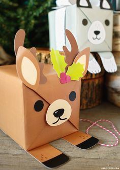 adorable animal gift wrap