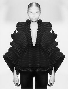 Swedish designer Sandra Backlund created this knitted jacket with 3D printing