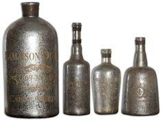 Accessories Lamaison Mercury Glass Bottle Large by Uttermost