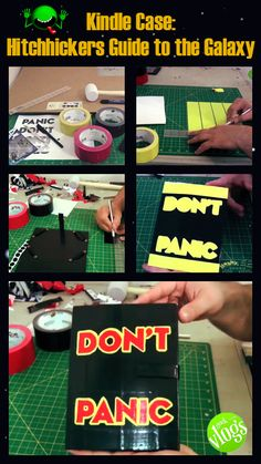 Hitchhiker's Guide to the Galaxy DIY - Kindle case! Click for the tutorial! science fiction, diy, kindle, reading