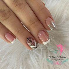 Semi Permanente, Ideas Para, Nail Art Designs, Nails, Makeup, Beauty, Gel Nail, Pretty Gel Nails, Short Nail Manicure