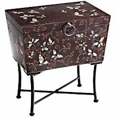Pier 1 Imports  Catalog  Furniture  Living  Pier1ToGo Product Details - Shandora Mosaic Butterfly Trunk