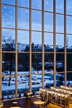 Malmö City Library, Sweden A library with a stunning view of the snow - who wouldn't want to spend the day there?