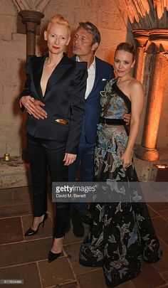 Tilda Swinton, Mads Mikkelsen and Rachel McAdams attend Marvel Studios and British GQ hosted reception in The Cloisters at Westminster Abbey, to celebrate the release of Doctor Strange on October 24, 2016 in London, England.