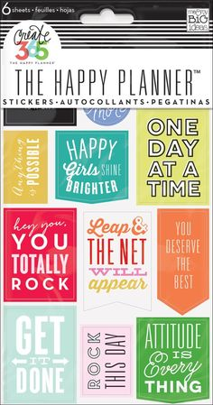 Stickers - Get It Done - Nothing is easier than customizing your planner with stickers! This value pack features stickers with inspirational sayings that were designed to fit perfectly in the daily co (Fitness Planner Filofax) Free Planner, Happy Planner, Printable Planner, Planner Stickers, Planner Ideas, Planner Organisation, Journal Stickers, Printable Stickers, Free Printables