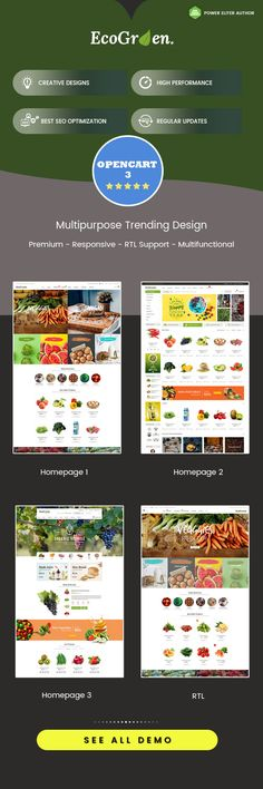 247 Best Opencart Themes Templates Images Templates Slider