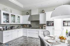 Interior, design, decor, kitchen,  grey, white