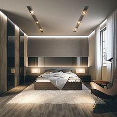 31 elegant and modern master bedroom design ideas 00039 Modern Luxury Bedroom, Luxury Bedroom Design, Room Design Bedroom, Bedroom Furniture Design, Home Room Design, Luxurious Bedrooms, Home Decor Bedroom, Home Interior Design, Modern Bedroom Lighting