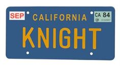 Show details for KNight Rider KNIGHT License Plate Replica