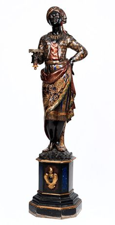 Venetian carved wood Blackamoor, 19th century.